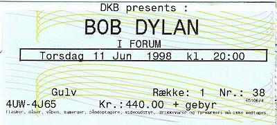 Musikfotos - Bob Dylan 1998