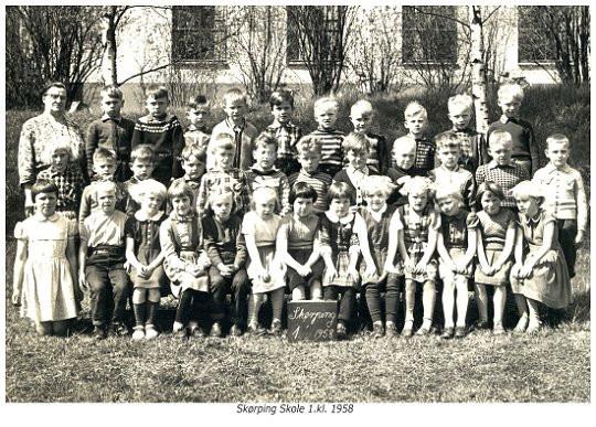 Skørping skole 1. klasse 1958