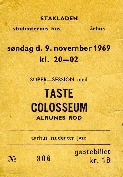 Billet Taste Colosseum 1969